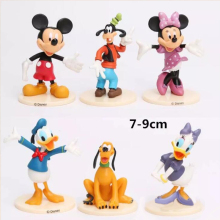 Mickey Minnie Mouse Daisy Goofy Pluto Cake Topper Dacoration Dolls Boys Kids Happy Birthday Event Party Supplies Gift Toy tsum tsum mini plush doll toys phone screen brush donald daisy mickey minnie mouse pluto goofy chip dale christmas edition