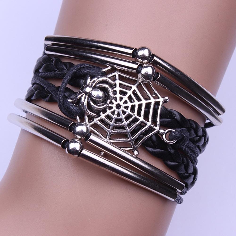 2018 New Fashion Style Spider Bracelet Braided Charm Handcuff Women Men Bangles Handmade Stuff Bracelet Jewelry Accessories