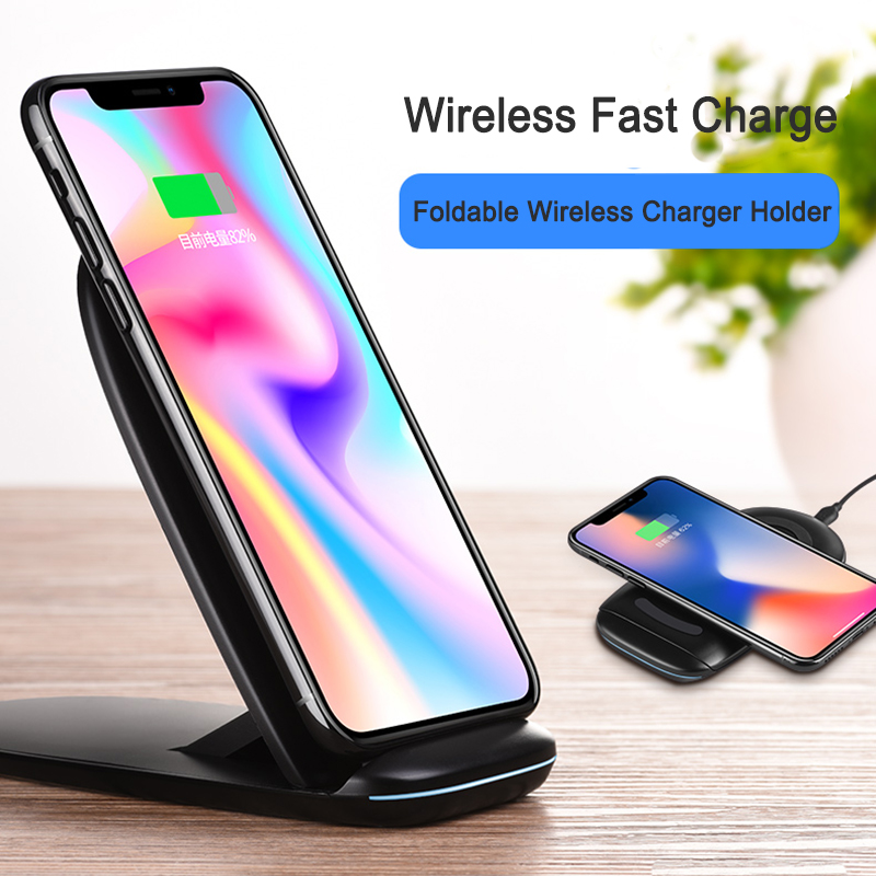 HOCO QI Fast Wireless Charger QC3.0 2.0 for iphone X samsung s8 note 8 S7 S6 Edge All Qi-Enabled Phone Wireless Devices Charging