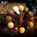 Naturais Contas de Oração Budista Tibetano Buda Pulseira Dos Homens Natural Handmade Bracelet Bangle de Pulso Ornamento de Madeira Do Buda Talão Mulheres
