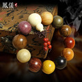 natural Buddhist Tibetan Buddha Bracelet Men Prayer Beads Natural Handmade Bracelet Bangle Wrist Ornament Wood Buddha Bead Women