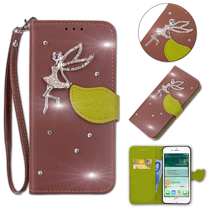 Luxury Leaves Wallet Leather Case For Sony Xperia Z3 compact Case fundas Flip Case cover For Sony Xperia Z3 compact D5803 case