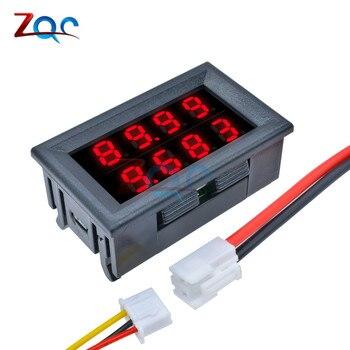 0.28 pouces numérique voltmètre cc ampèremètre 4 bits 5 fils cc 200V 10A volts tension courant mètre alimentation rouge LED double affichage