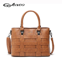 Gykaeo Designer Handbags High Quality Women Messenger Bags Female Vintage Pu Leather Shoulder Bag Ladies Retro