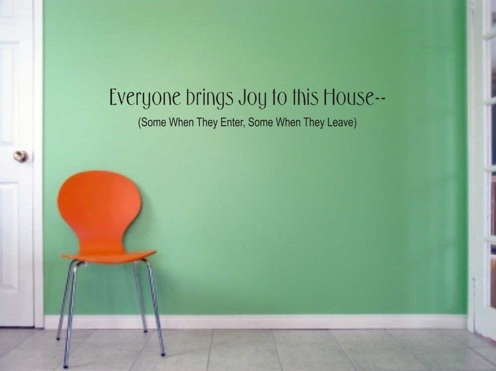 Everyone Brings Joy To This House Wall Art Sticker Quote Living Room Bedroom Decals 3 Sizes In Stickers From Home Garden On Aliexpress