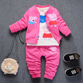 NEW Spring Baby girls clothing Set Three pieces newborn style casual clothing long-sleeved clothes 0 1 2 3 T