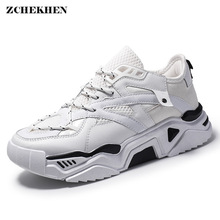 Harajuku Men Shoes 2019 Spring Vintage Dad Sneakers Breathable Mesh Casual Chunky Tenis Masculino Adulto