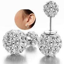 Sterling-silver-jewelry pendientes mujer earrings 925 brincos plata earing stud orecchini oorbellen 22 women jewelry round tyui