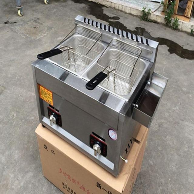 Gas Heating Stainless Steel Fryer Fried Chichen Kfc Potato Frying Machine Zf