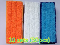 30pcs Robot Cleaner Brushes Spare Parts 10 Wet Pad Mop 10 Damp Pad Mop 10