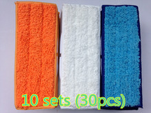 30pcs robot cleaner brushes spare parts 10* Wet Pad Mop +10* Damp Pad Mop + 10*  Dry Pad Mop for iRobot Braava Jet 240 241 6pcs 3x2 microfiber washable wet damp dry sweeping pad mopping pads cloth for irobot braava jet 240 241 244 245 replacement