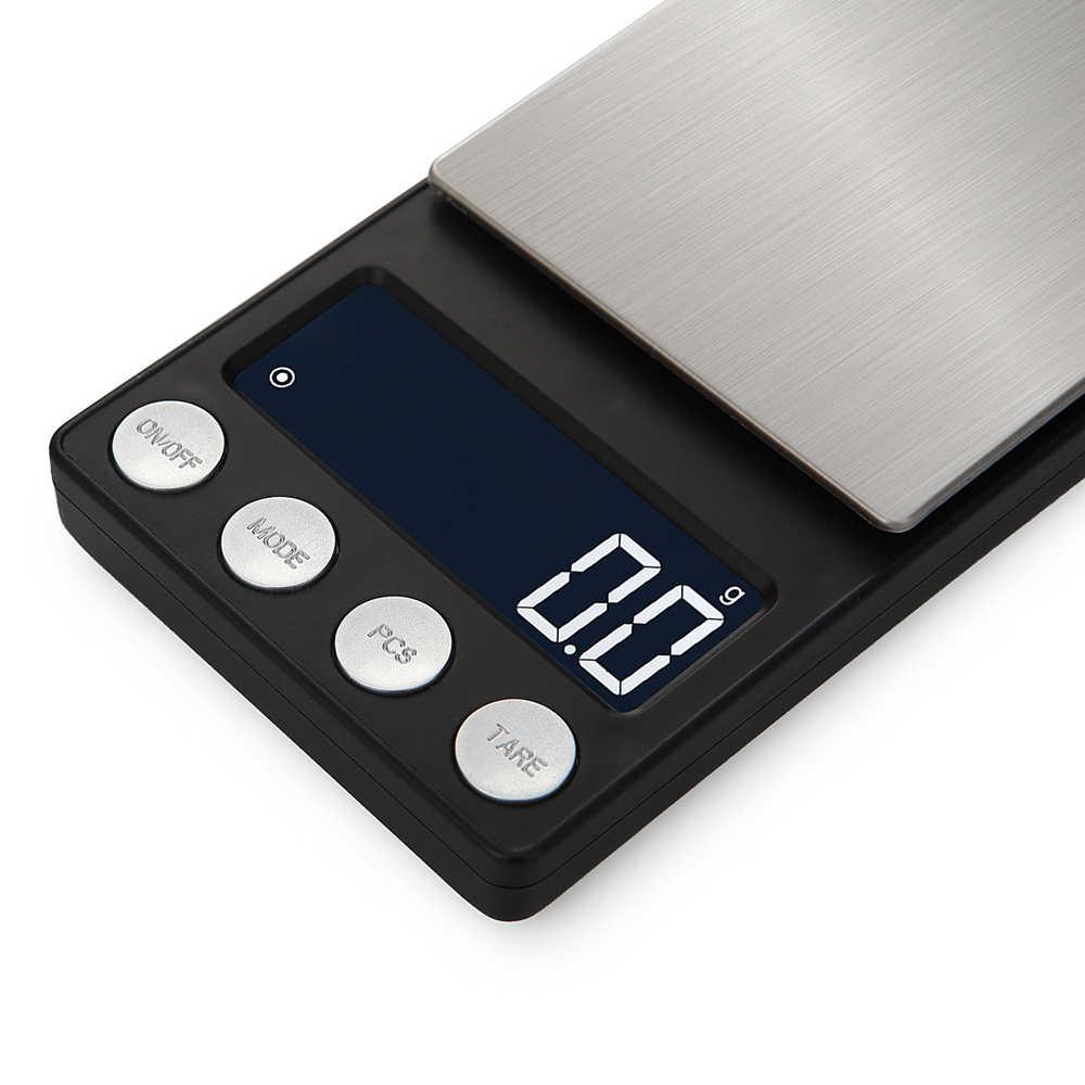 Mini Balance numérique 500g 0.01/0.1g Balance de bijoux de poche électrique Portable pour le poids de gramme de bijoux médicinaux de laboratoire