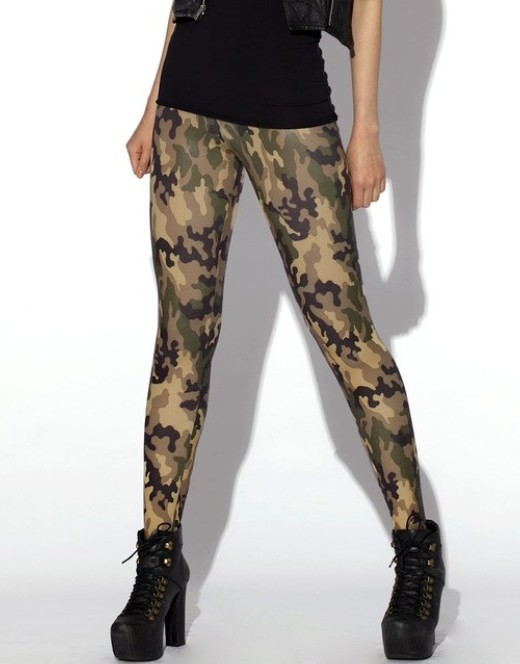 2018 Brands Women Leggings High Elastic Skinny Camouflage Legging Spring Summer Slimming Women Leisure Jegging Pants