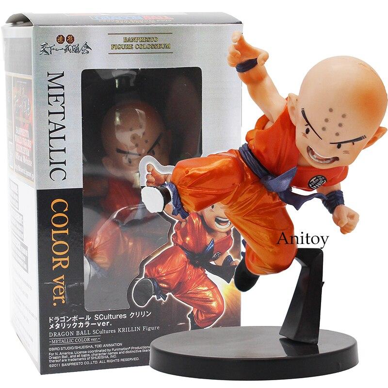 Dragon Ball SCultures Krillin-Metallic Color Ver. Banpresto Figure Colosseum PVC Action Figure Collectible Toy 10cm
