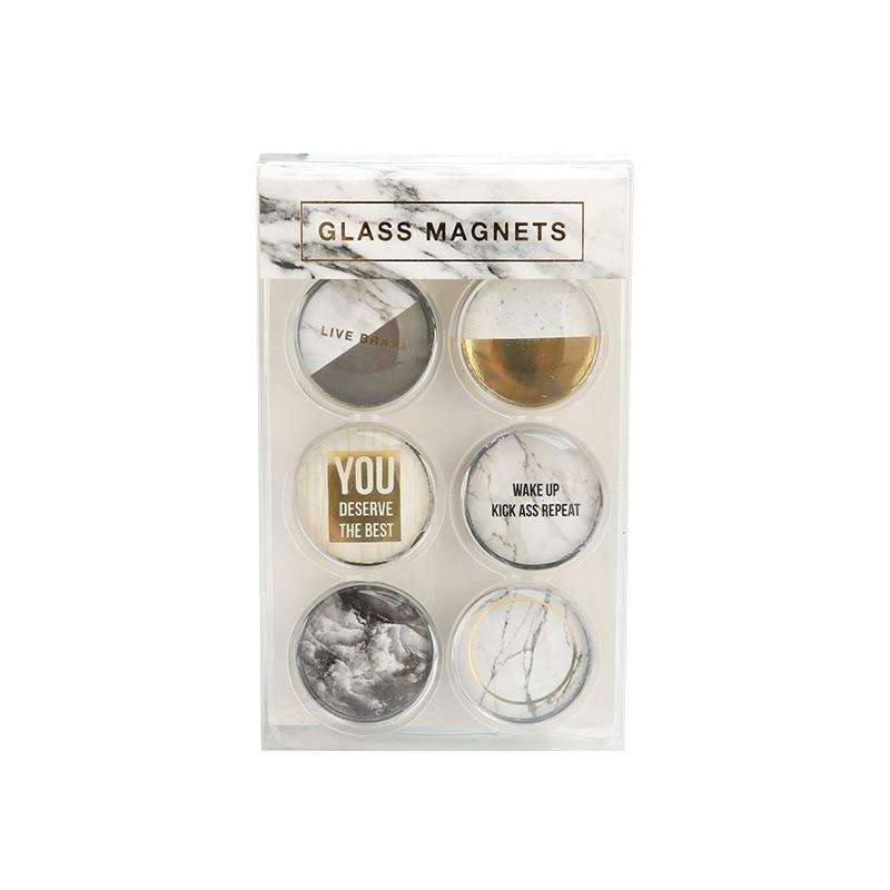 Marble Magnetic Sticker Fridge Glass Magnet Sticker Transparent Magnets