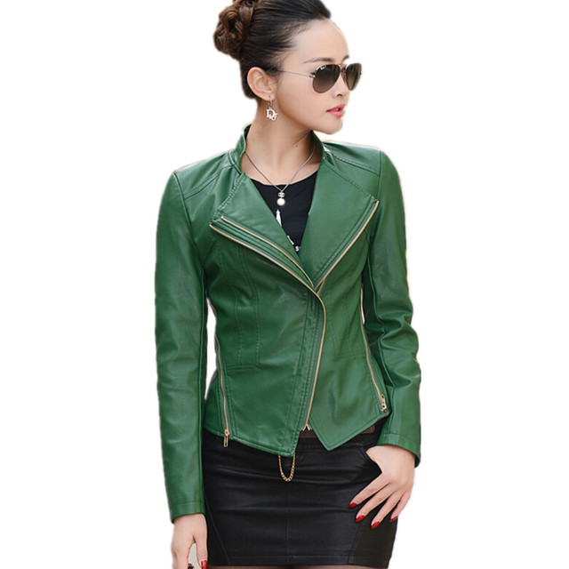Aliexpress.com : Buy S 4XL ladies jackets women leather jacket ...