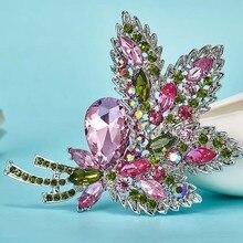 Muy hermosa Boda nupcial Broches collar flor ramo broche brillante marca rhinestone broches Relogio feminino Broch juego