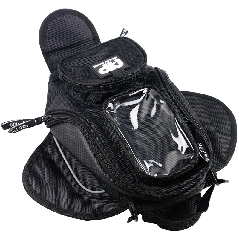 New Black Oil Fuel Tank Bag Magnetic Motorcycle Motorbike Oil Fuel Tank Bag saddle Bag w/ Bigger Window Moto Accessory
