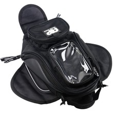 Новый Черный Нефть Топливного Бака Сумка Магнитный Мотоциклов Моторное Масло Топливный Бак Сумка saddle Bag w/Больших Окна Moto аксессуар