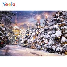 Yeele Christmas Photography Backdrops Bokeh Lights Castle Family Party Personalized Photographic Backgrounds For Photo Studio