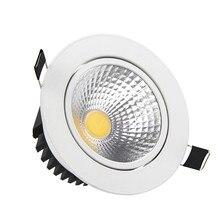 Супер яркий Диммируемый светодиодный светильник COB Точечный светильник 5 Вт 7 Вт 10 Вт 12 Вт Встраиваемый светодиодный точечный светильник s лампы Внутреннее освещение