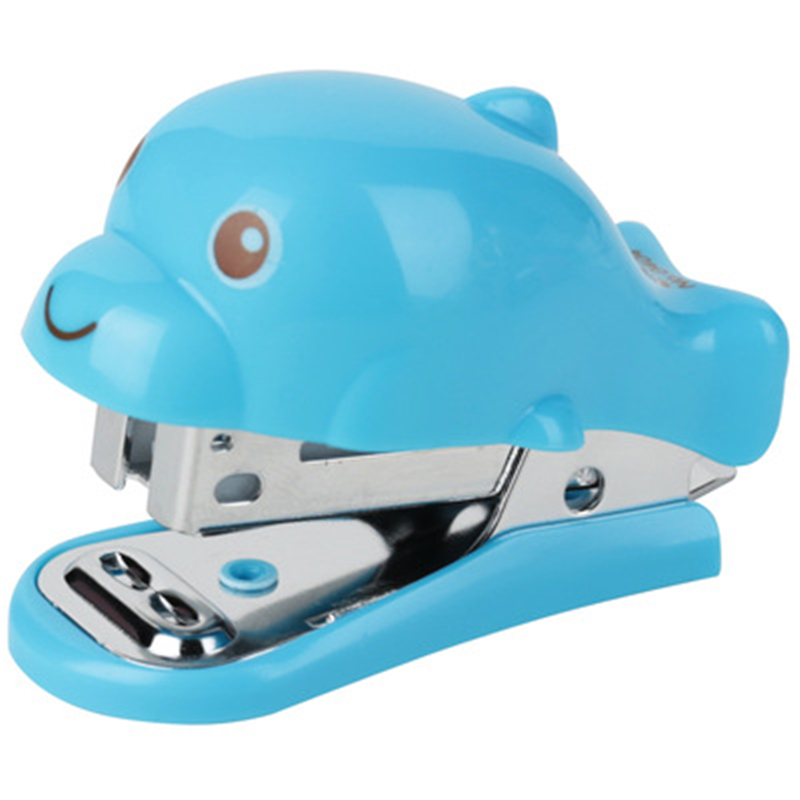 DL    Good Stapler 0454 Mini Cartoon Cute Stapler Small Pocket Creative Student Gifts For Children Stationery Office Supplies