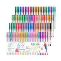 100 Colori Evidenziatore Penna Gel Penne Per Il Disegno di Arte Per Glitter Neon Per Colore Metallico per la Scuola I Bambini Regali