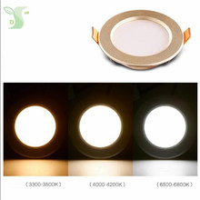 4pcs/lot 3w/5W led panel lighting ceiling lamp dimmable Downlight with driver SMD 5730 Warm /Cool white,indoor lighting(China)
