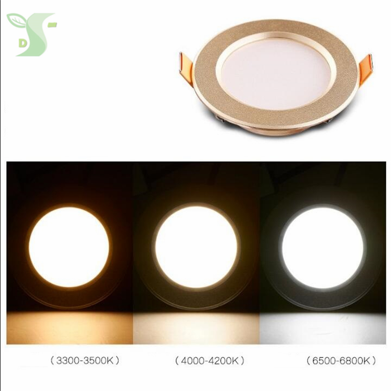 4pcs/lot 3w/5W led panel lighting ceiling lamp dimmable Downlight with driver SMD 5730 Warm /Cool white,indoor lighting