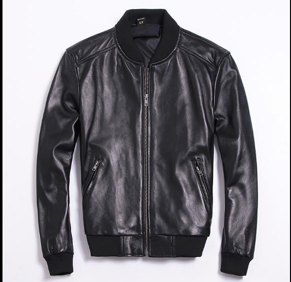 Free Shipping.Brand Classic Man Genuine Leather Coat,men's Soft Cowhide A1 Jacket.baseball Jackets.fashion Slim Plus Size Sales