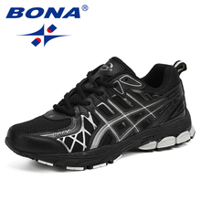 BONA New Men Mesh Breathable Casual Sneakers Autumn Winter O