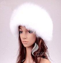 Cx-c-166c белых женщин зима мода натурального меха лисы российским шляпы