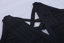 Deep V Floor Length Backless Hollow Out Dress