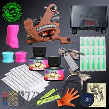 Complete Tattoo kit New Design Coloring Tattoo Guns Sets Machine Immortal Ink Disposable Needles Power Supplies