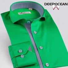 Бизнес хлопковая рубашка Для мужчин Рубашки для мальчиков модные Для мужчин Повседневная рубашка Camisa De Hombre