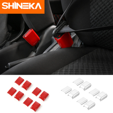 SHINEKA Interior Moulding For Suzuki Jimny 2007+ Car Safety Belt Socket Decoration Cover Stickers Accessories