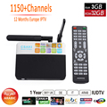 3GB RAM 32GB ROM CSA93 Android 6.0 Tv Box 1 Year IPTV Europe Amlogic S912 Octa core 4K WiFi BT 4.0 2GB/16GB Smart Set Top Box