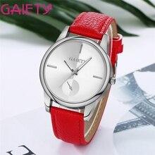 GAIETY NEW Fabulous Women's Fashion wristwatches Band Analog Quartz Round Leather Wrist Watch Orologio Drop Shipping #0223