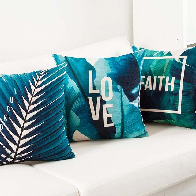 Tropical Faith Palm Cushion Cover  3