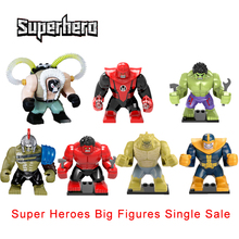 Super Heroes Bige Action Figures Bane Thanos Hulk Killer Croc Thor Avengers Hulk Atrocitus Building Block