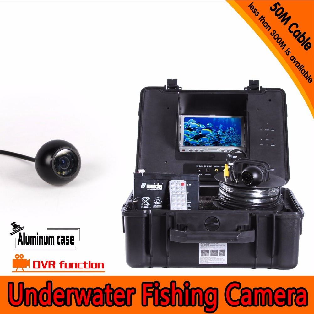 7Inch Monitor  650TVL Under-Water 50M  DVR Function Fishing Camera AV  Endoscope sky 708 40ch 7 monitor hdmi input and diversity rx dvr ppm function