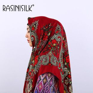 Headscarf Factory Outlet Muslim Scarf Islamique Ethnic Style Square Hijabs Headscarf Arabian Print Headscarf Square Towel