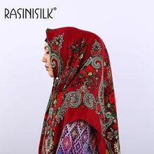 Headscarf โรงงาน Outlet มุสลิมผ้าพันคอ Islamique ชาติพันธุ์สไตล์ฮิญาบอาหรับพิมพ์ Headscarf ผ้าเช็ดตัว