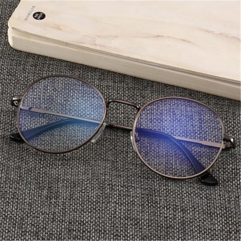 Компьютерные очки, мужские очки, оправа для очков, анти синий светильник, антибликовые очки, оправа для женщин и мужчин, круглые прозрачные линзы, поддельные очки Мужские очки кадры      АлиЭкспресс
