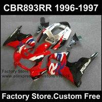 7 подарки Дорожный/Гонка обтекателя наборы для Honda 96 97 CBR 900RR CBR 893rr 1996 1997 Fireblade Красный Белый мотоциклов CBR 893 обтекатели комплект