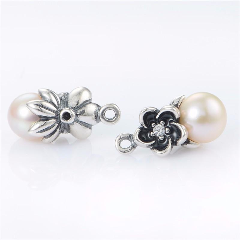 Original-925-Floral-pendientes-de-gota-blanca-perlas-y-piedra-CZ-de-la-joyería-Compatible-la (1)