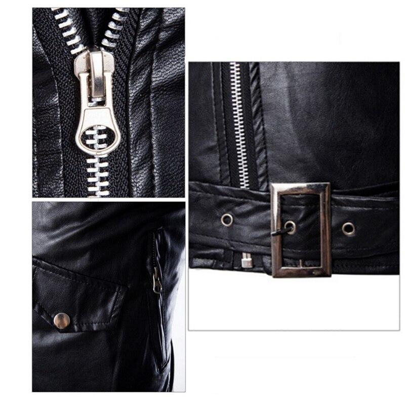 HTB1QRavavvsK1RjSspdq6AZepXa7 HEFLASHOR  Autumn Men Fashion Motorcycle Leather Jacket slim fit Coats Male Casaco Masculino Casual Zipper Black jacket