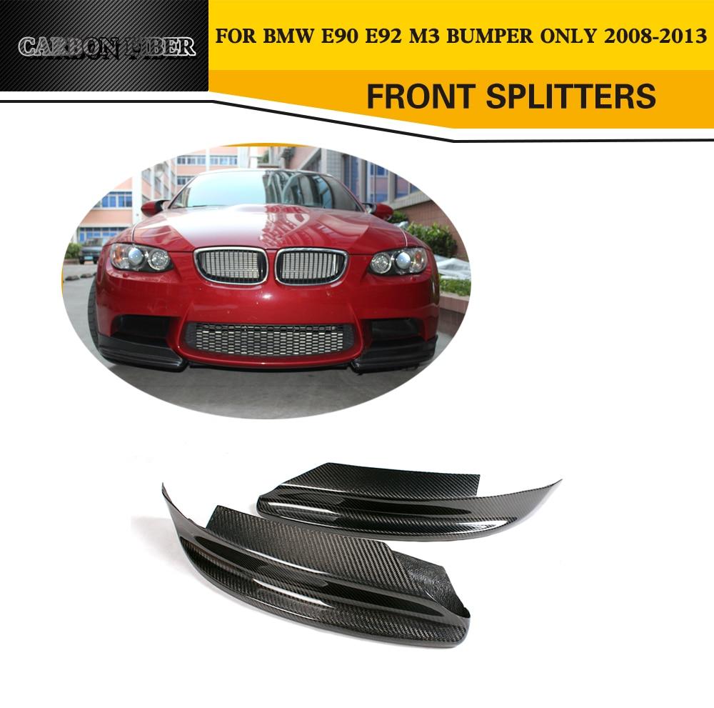 E90/E92 M3 Carbon Fiber Racing Front Splitters Lips Car-Styling for BMW 3 Series E90 M3/E92 M3