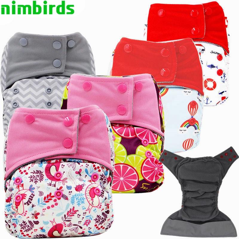 3 PCS AIO Baby Cloth Diaper Charcoal Microfiber Infoga Nappy, - Blöjor och potträning
