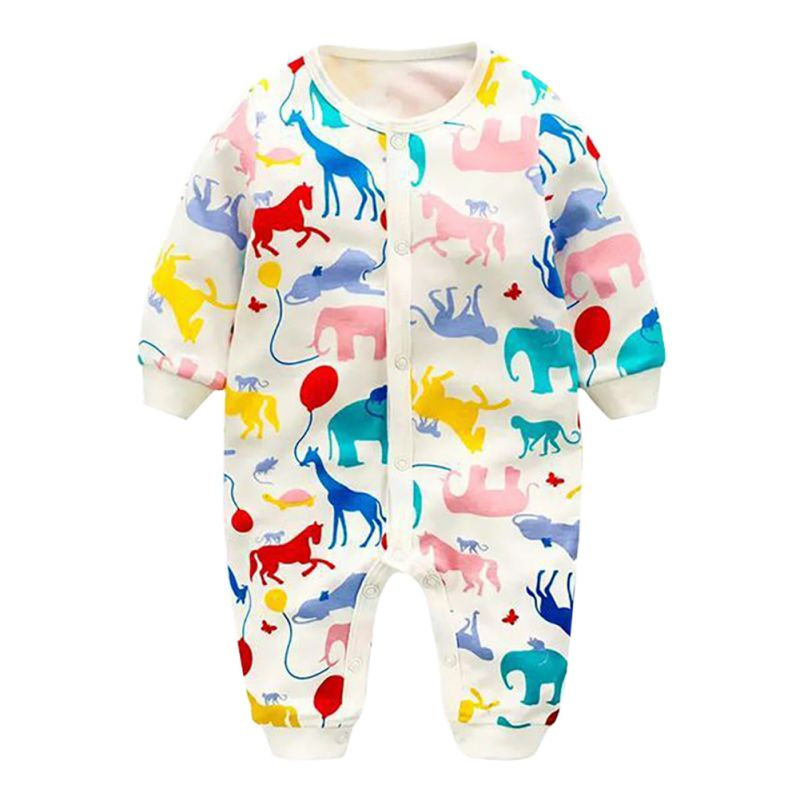 Newborn Infant Baby Boys Girls Clothes Jumpsuit Long Sleeve Product Solid Round Collar   Romper   K08